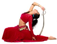 "Belly dance costumes can be used for an ""Arabian Nights"" costume."