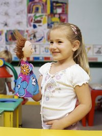 Puppets are great tools to allow children to express themselves.