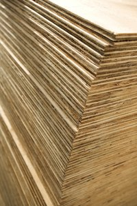 Delamination can occur when plywood gets wet.