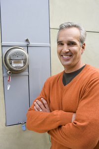 Your electric meter records the amount of electricity you use.