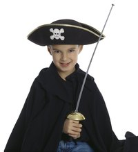 Make a felt tricorn hat to transform yourself into a fierce pirate.