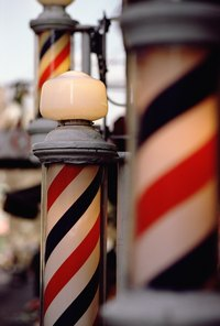 Make a reproduction of a retro barber pole.
