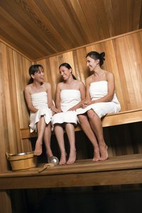 Saunas are a popular place to socialize as well as bathe.