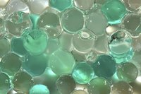 Water beads are available in a rainbow of decorative colors.