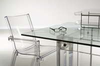 Glass tabletops look their best when they're scratch-free.