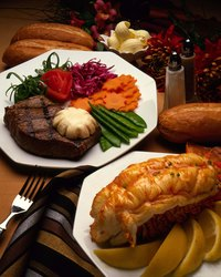 Serving lobster tails butterflied gives them an elegant look.