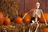 A grinning skeleton waits for Halloween.