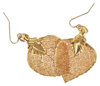 Transform a leaf into a beautiful piece of jewelry by electroplating it.