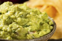 Close-up of guacamole bowl
