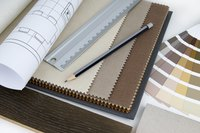 Sample boards give you a feel for all the materials being proposed for your new decor.