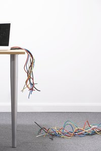 In the center of the room, messy cords become a safety issue.