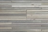Close-up of a deck surface, made of plastic wood planks