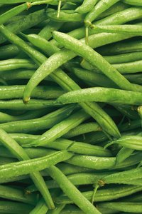 Fresh snap beans are crisp, firm and unblemished.
