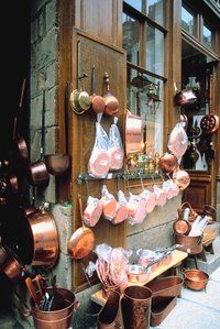 You can clean your copper pots and pans with many different household products.