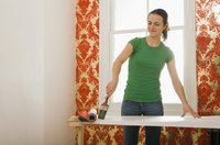 Wallpaper paste can be difficult to remove.