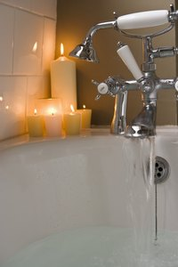 Candles add to the ambiance of your bathroom.