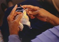Crocheting is a relaxing pastime for many people.