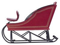 A sleigh is a popular Christmas decoration that will bring the holiday spirit to your own front lawn.