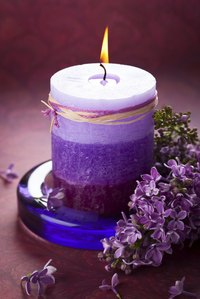 Some candles have different layers, each with a different scent.