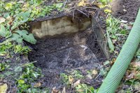 Old septic tanks can be very close to the house.