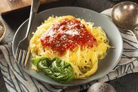 Treat spaghetti-squash noodles as you would the real pasta.