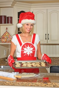 Make a personalized Mrs. Claus apron.