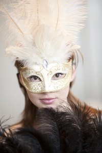 Use paper-mache to create a carnival mask for a masquerade ball.