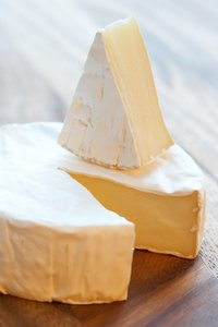 The rind, or outer casing, on the cheese is actually edible.