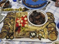Grilled artichokes make a great addition to an antipasto platter.