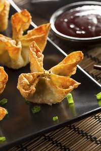 Fried dumplings pair well with sweet, sour and spicy sauces.