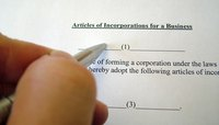 Articles of Incorporation for Texas