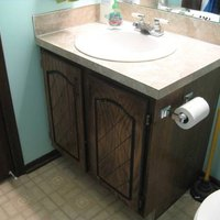 reface bathroom cabinets and replace doors how to reface bathroom cabinets and replace doors ehow 25218