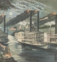The history of steam-powered riverboats carrying passengers along the Mississippi River dates to October 1811, when the New Orleans launched its ...