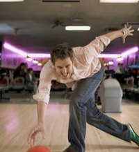 Beginning bowlers typically throw the ball straight down the alley, with no curve. Advanced bowlers, however, throw the ball with a curve, commonly ...