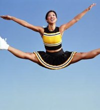 In cheerleading, perhaps the most common jump you'll perform is the toe touch, which is also sometimes called the split jump or straddle jump. While ...