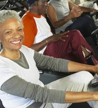 The recumbent style of stationary bike is best for seniors. The reclined seat position offers comfort, support and stability. Seniors can gain the ...