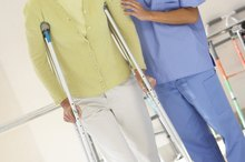 How to Cushion Crutches With Towels