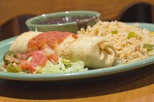Nutritional Value for Restaurant Chicken Chimichangas