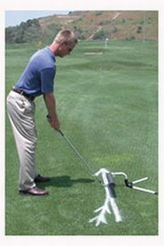 Teaching aids provide visual feedback about your swing.