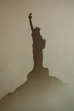 The Statue, Liberty, the first things, immigrants