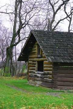 What is the fair market value of a 19th century log cabin in the 21st century?