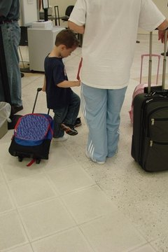 A father's right to take his child out of the country varies according to custody agreements.