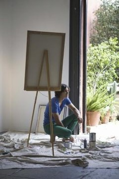 Painting is popular with college art students.
