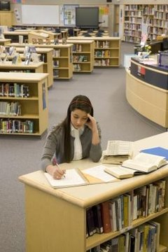 Students can use the library to find research materials.