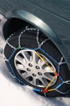 Snow chains can prevent slipping on icy surfaces but must be used with caution.