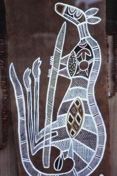 Aboringinal art often depicted native Australian animals.