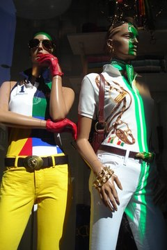 Large cities provide inspiration for fashion design students.
