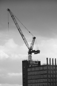 Crane workers often use tag lines to help hold dangling loads in place.