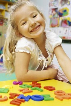 Learning letters is an important task for kindergartners.