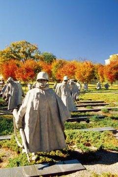 The Korean War Memorial in Washington.